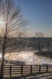 Frosty sunrise Stock Photography