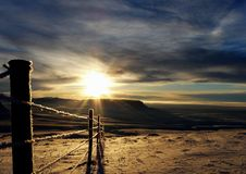 Frosty Sunrise royalty-vrije stock afbeelding