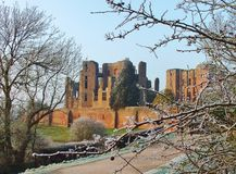 Frosty trees Kenilworth Castle Stock Image