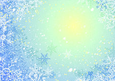 Frosty vector background. Blue  background for the new year or christmas congratulation Stock Photo