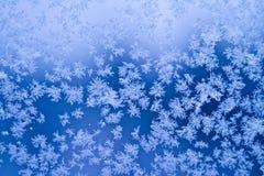 Frosty window. Detail of a frosty window stock photo