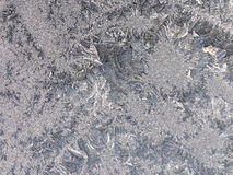Frosty window. Closeup at a frosted window Stock Image