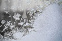Frosty Window Glass royaltyfri bild