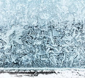 Frosty window ice pattern Royalty Free Stock Images
