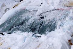Frosty windshield Stock Photos