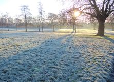 A Frosty Winter Landscape. Royalty Free Stock Photos