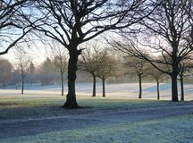 A Frosty Winter Landscape. Royalty Free Stock Photography