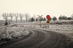 Frosty winter landscape view Royalty Free Stock Photo