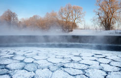 Frosty winter morning stock photo