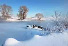 Frosty winter morning Royalty Free Stock Photo