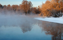 Frosty winter morning Stock Photography