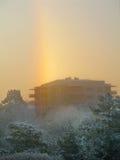 Frosty winter rainbow Stock Photography