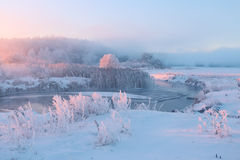 Frosty Winter Sunrise foto de archivo