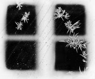 Frosty Winter Window Foto de Stock