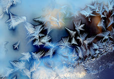 Frosty winter window, texture Stock Image