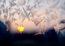 Frosty winter window, texture Royalty Free Stock Image