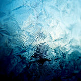 Frosty winter window, texture Stock Photography