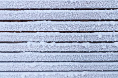 Frosty wooden wall Stock Images