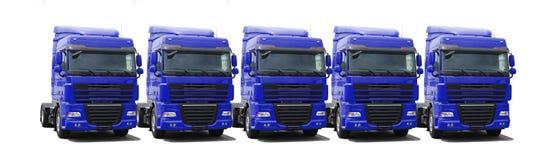 Frota de caminhão Imagem de Stock