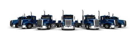 Frota de caminhões ilustração stock