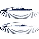Frota naval Imagem de Stock Royalty Free