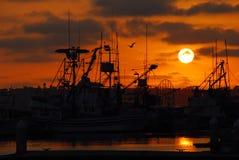 Frota pesqueira fotografia de stock
