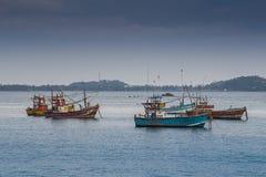 Frota pesqueira cansado que recebe de volta Foto de Stock Royalty Free