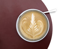 Froth art on latte macchiato Royalty Free Stock Photo