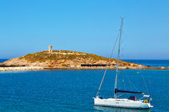 Froth     greece from  mediterranean sea  sky Royalty Free Stock Photo