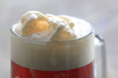 Froth on a pint of beer Stock Photography