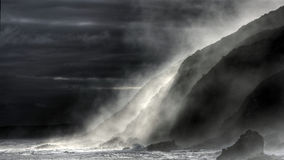 Froth in the twilight. Storms River Mouth, Tsitsikamma, South Africa stock photos