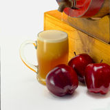 Frothy apple cider Royalty Free Stock Images