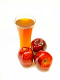Frothy apple cider Stock Image
