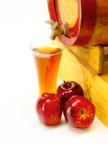 Frothy apple cider Stock Photos