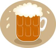 Frothy Beer royalty free illustration