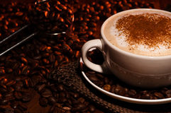 Frothy Cappuccino Coffee Royalty Free Stock Photos