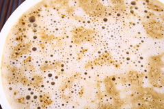Frothy cappuccino coffee. Cup of coffee with chocolate Frothy cappuccino coffee Royalty Free Stock Image