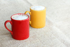 Warm colors coffee warming Royalty Free Stock Images