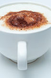 Frothy Coffee Close Up Stock Photo