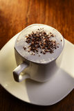 Frothy cup of cappuccino coffee Royalty Free Stock Image
