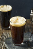 Frothy Nitro Cold Brew Coffee. Ready to Drink Royalty Free Stock Photo