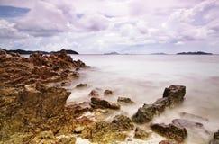 Frothy. Purply Coastalscapes at Palawan Stock Photos