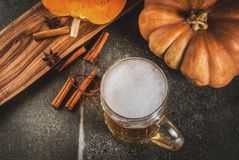 Spicy pumpkin Ale stock images