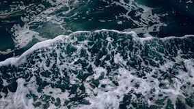 Frothy Waves in Ocean Water Royalty Free Stock Photos