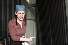 Frotte la pièce théâtrale à UNATC, Bucarest Images stock