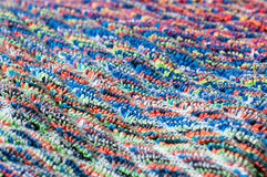 Frottee fabric mixed colors, macro Stock Photography