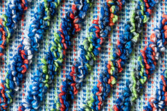 Frottee pattern, macro. Close up of colorful diagonal frottee pattern Stock Images