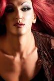Frotter-Reine. Homme rectifié comme femme. Images stock