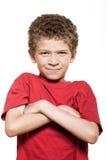 frown мальчика меньший sulk портрета стоковое фото