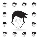 frown on face icon. Detailed set of facial emotions icons. Premium graphic design. One of the collection icons for websites, web stock illustration